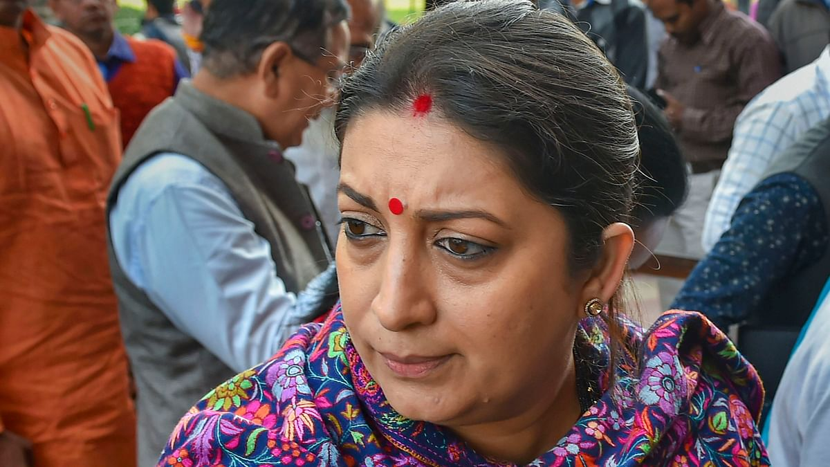 Union Minister Smriti Irani in New Delhi.