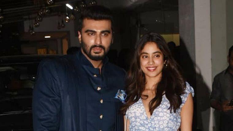 Janhvi Kapoor turns cheerleader for brother Arjun Kapoor at 'Panipat' screening