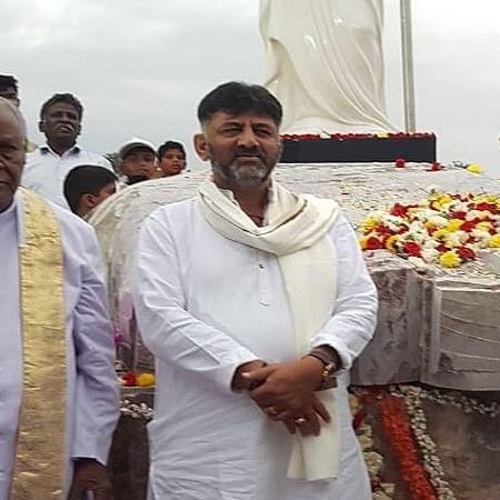 DK Shivakumar lays foundation stone for Jesus Christ statue in Karnataka's Harobele