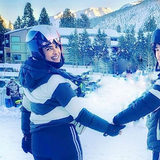 Twinning Swinning: Priyanka Chopra Jonas, Nick Jonas bid goodbye to the Winter Wonderland