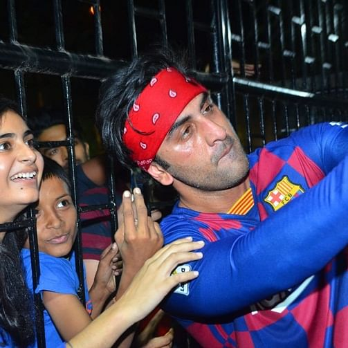 Watch: Ranbir Kapoor gets injured while playing football and still obliges fans