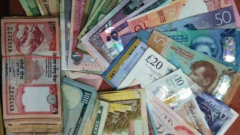 Foreign currency notes.
