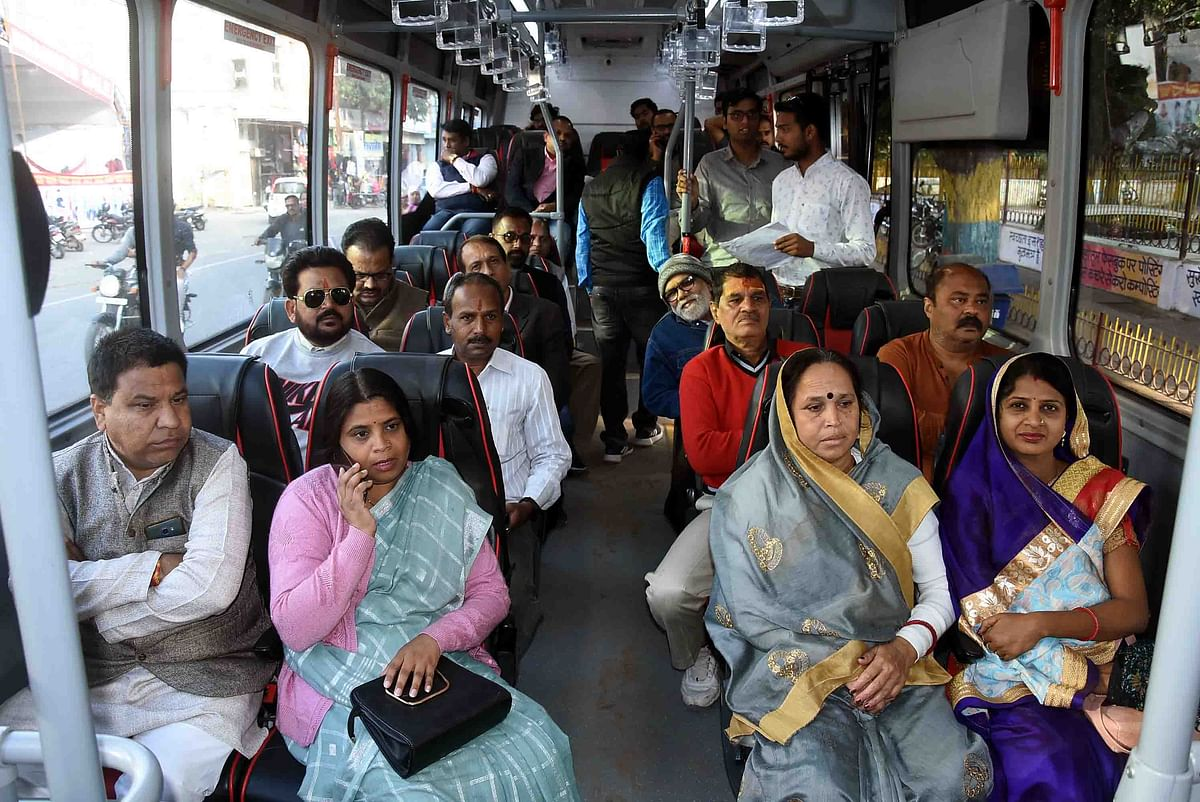 Test drive of e-buses being conducted.