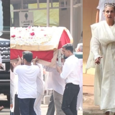 Inside Pics: Akshay Kumar, Twinkle Khanna bid goodbye to Betty Kapadia in peaceful funeral ceremony
