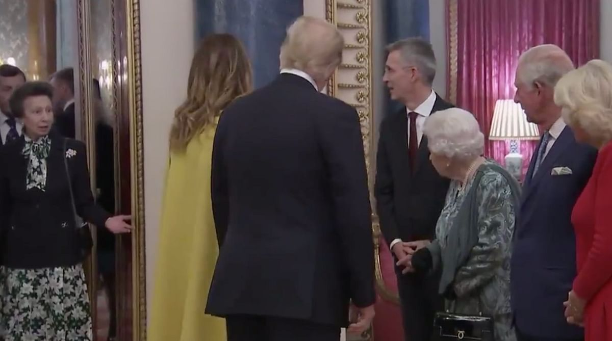 Another NATO video goes viral; Princess Anne gets scolded from Queen Elizabeth for not greeting Trump
