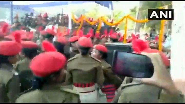 Watch: Women police trainees dance during passing out parade ceremony celebrations in Bihar's Sitamarhi