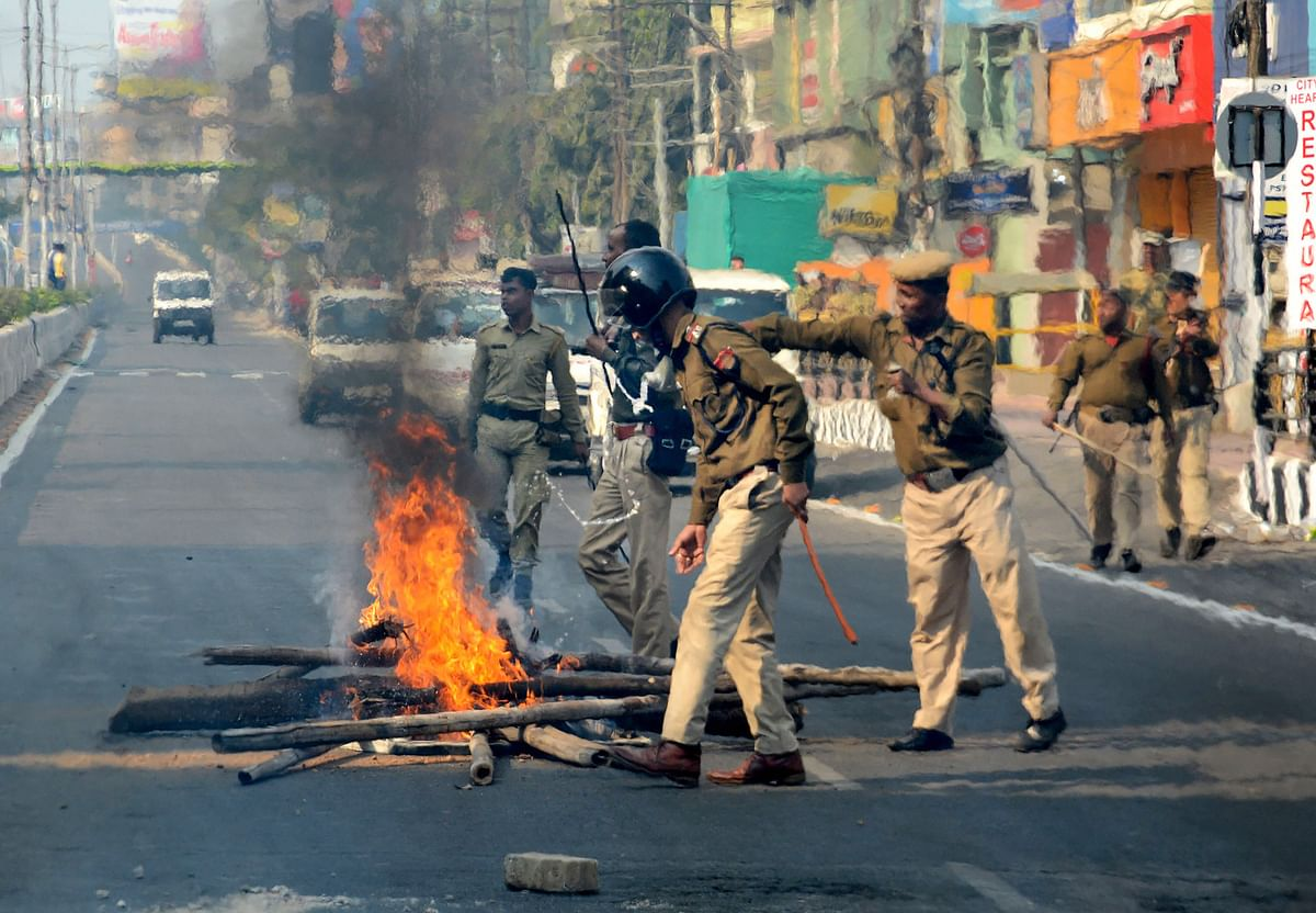 Anti-CAB protests: At least two killed after cops open fire in Guwahati, bus terminus set on fire