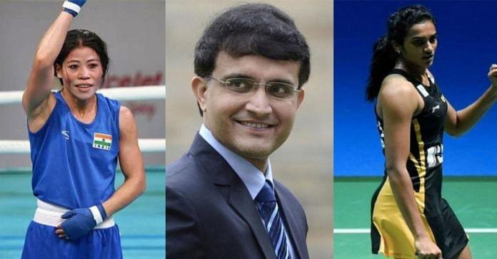 Mary Kom, PV Sindhu and Sourav Ganguly