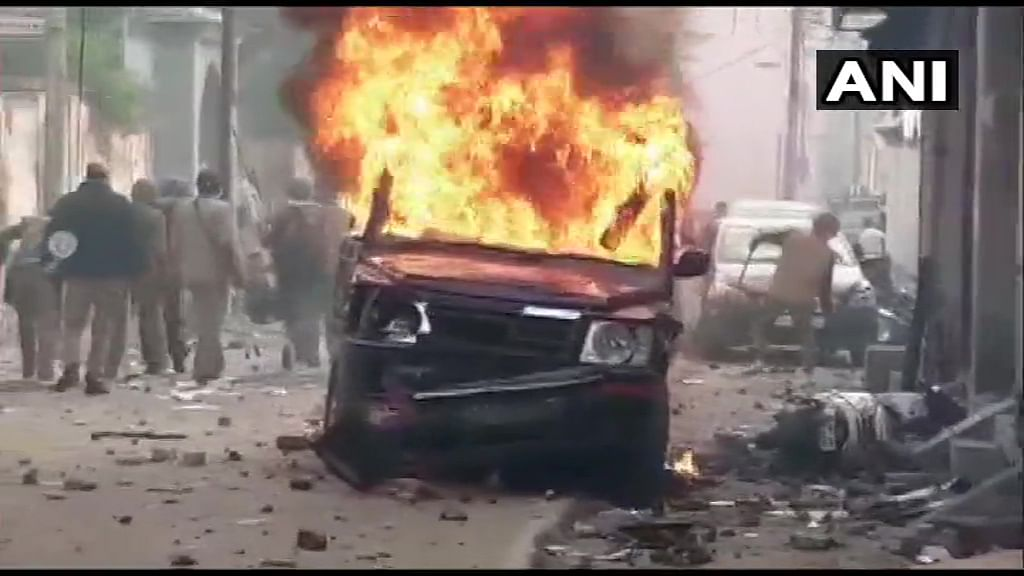 CAA protests catch fire: Police jeep torched in Bulandshahr, Internet down