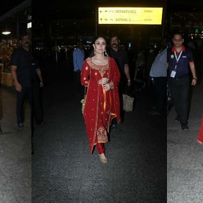 Wait! Did Kareena Kapoor Khan get ready at the airport for Armaan Jain's Roka ceremony?