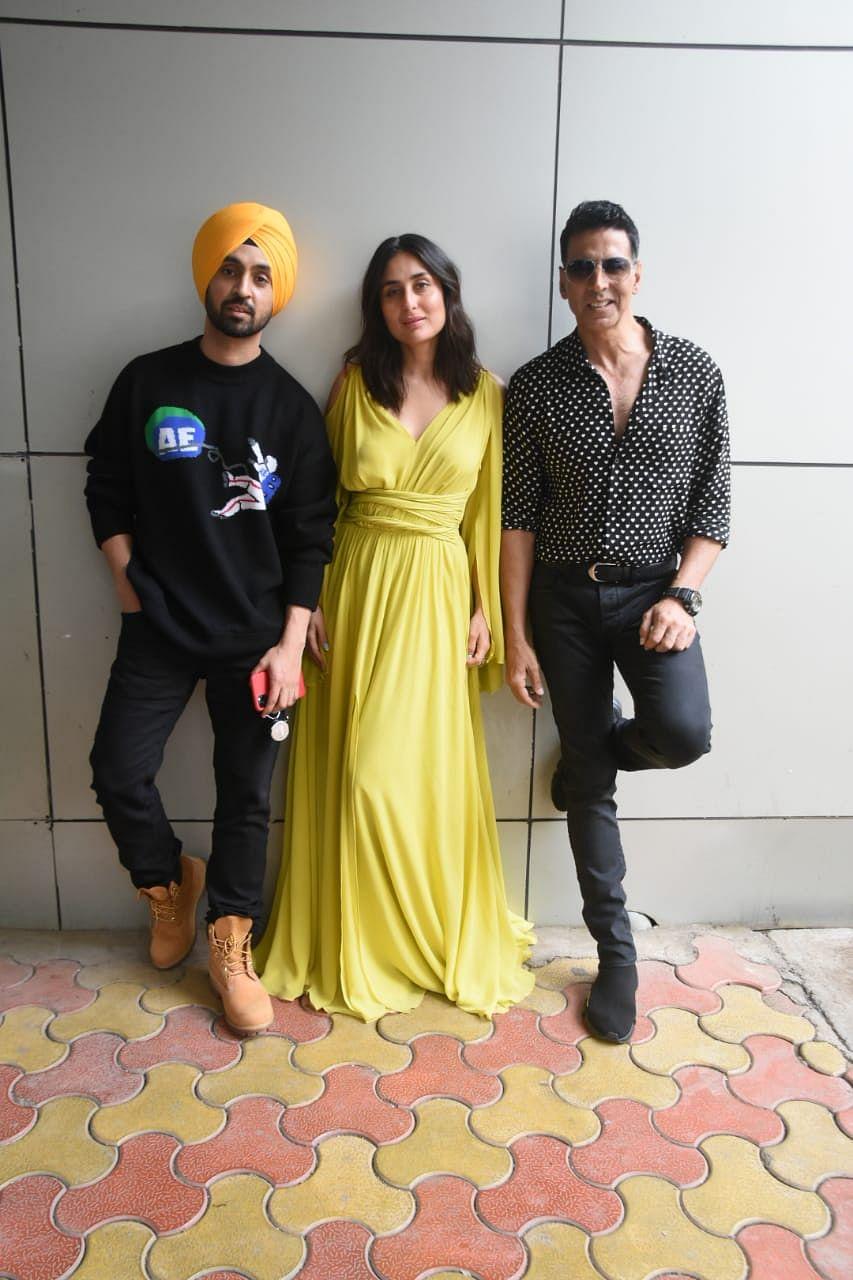 Kareena Kapoor Khan, Akshay Kumar. Diljit Dosanjh for promotions