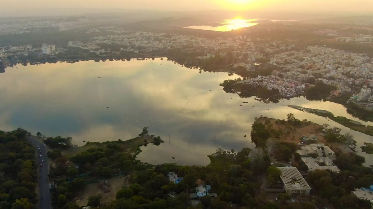 Drone View of Bhopal