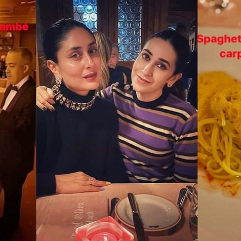 From crêpes to spaghetti: Kareena and Karisma ditch their diet for a scrumptious holiday dinner