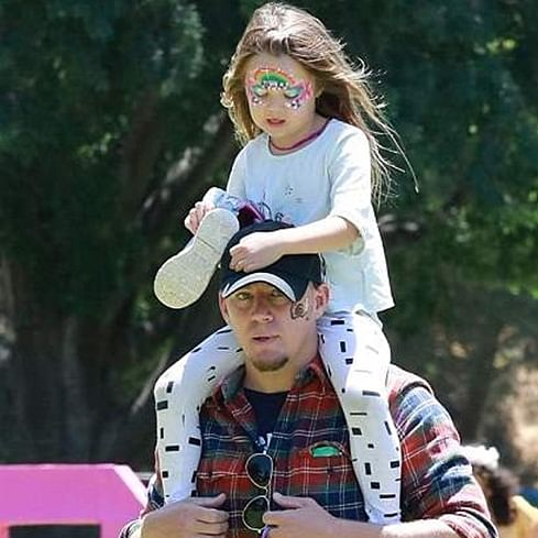 Channing Tatum trains his daughter Everly to box for self-defence