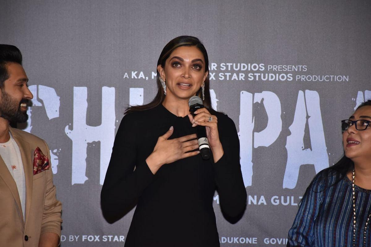 Deepika Padukone at 'Chhapak' trailer launch