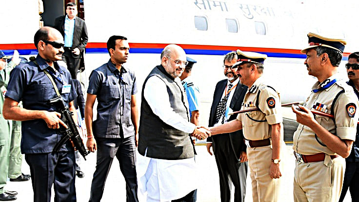 Amit Shah addresses police officers' conference