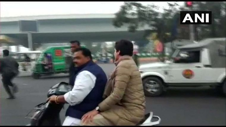 Priyanka Gandhi on scooter: Congress holds donation drive to raise challan amount even though owner's ready to pay