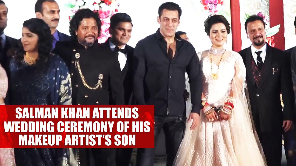 Salman Khan attends wedding ceremony of his makeup artist's son