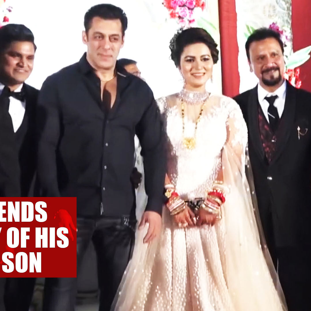 Salman Khan attends wedding ceremony of his makeup artist's son