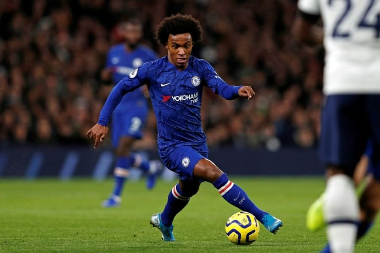 Willian during Chelsea vs Tottenham