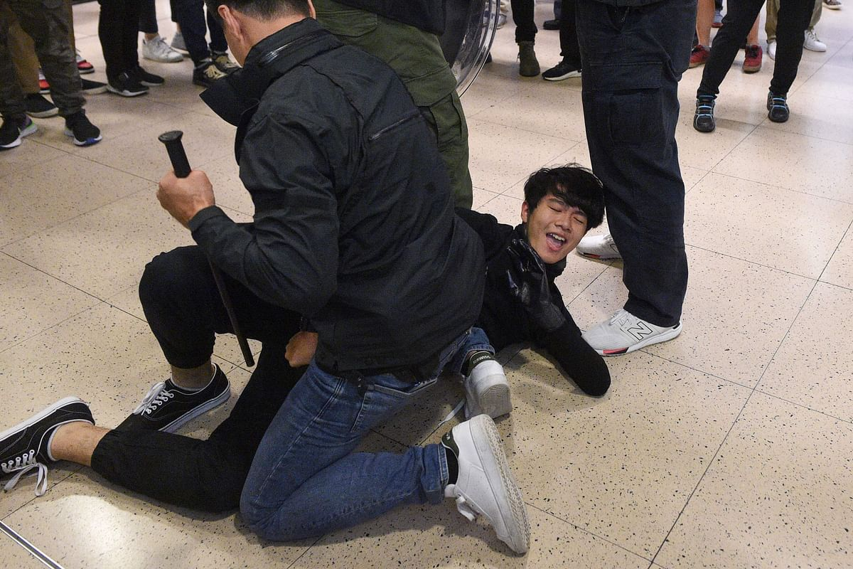 No more calm as clashes break out in Hong Kong malls