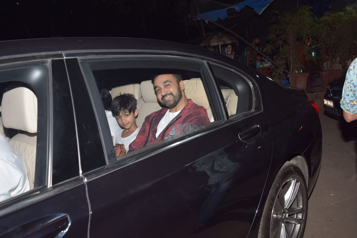 Raj Kundra and son Viaan