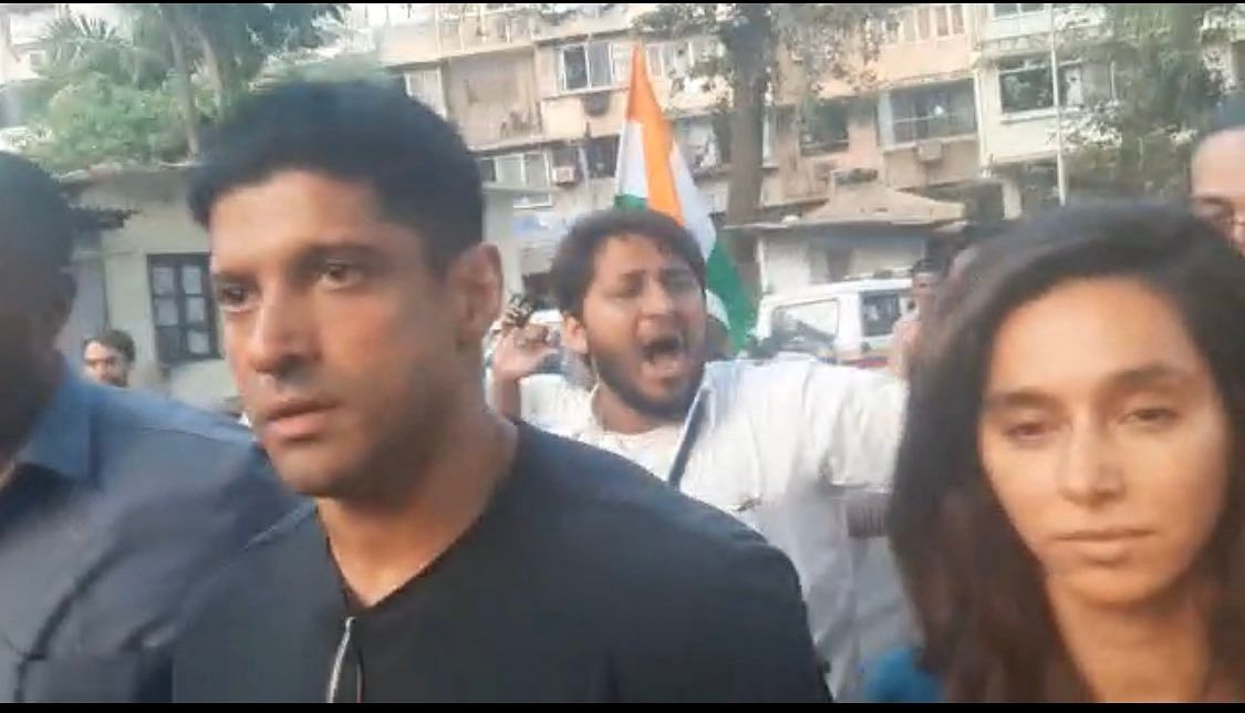 Farhan Akhtar and Shibani Dandekar at August Kranti Maidan, Mumbai