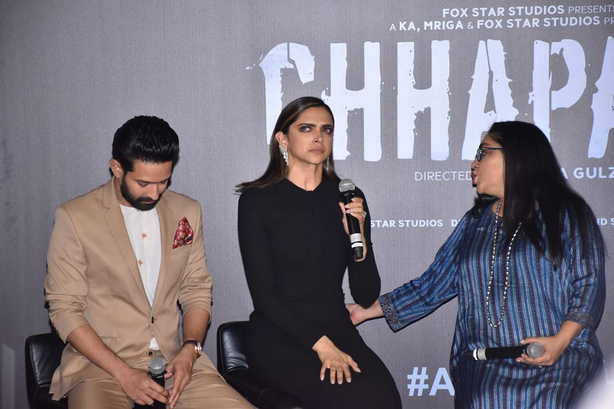Please call Ranveer, we can't see Deepika crying at 'Chhapaak' trailer launch