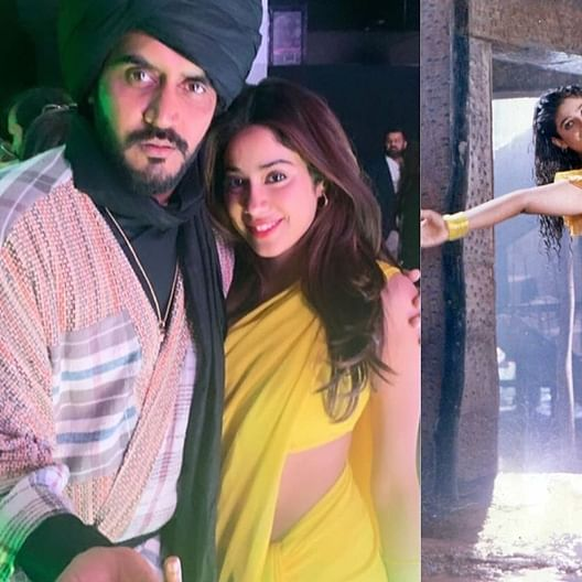 Janhvi Kapoor recreates Raveena Tandon's iconic 'Tip Tip Barsa Paani' look in a yellow saree