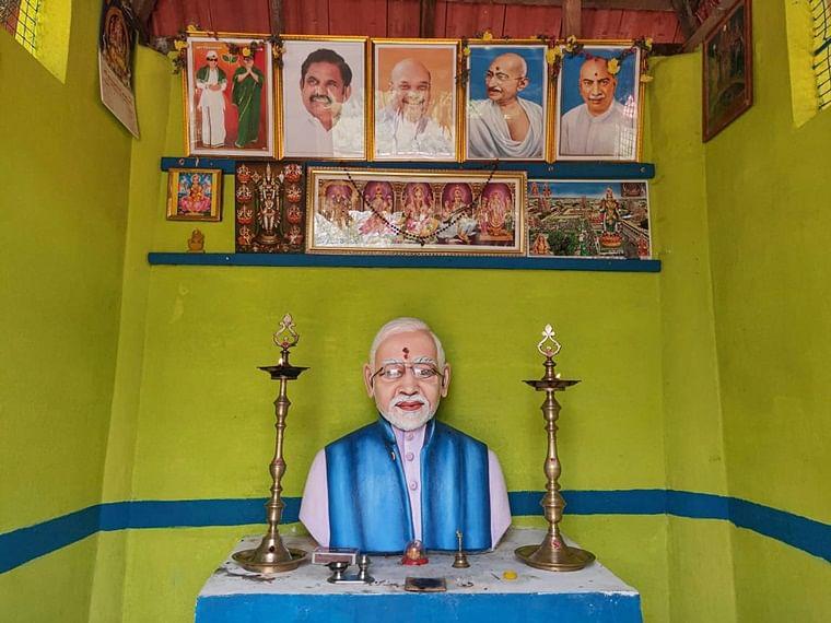 Happy with PM's 'pro-farmer schemes', TN farmer builds Rs 1.02 lakh statue of Modi