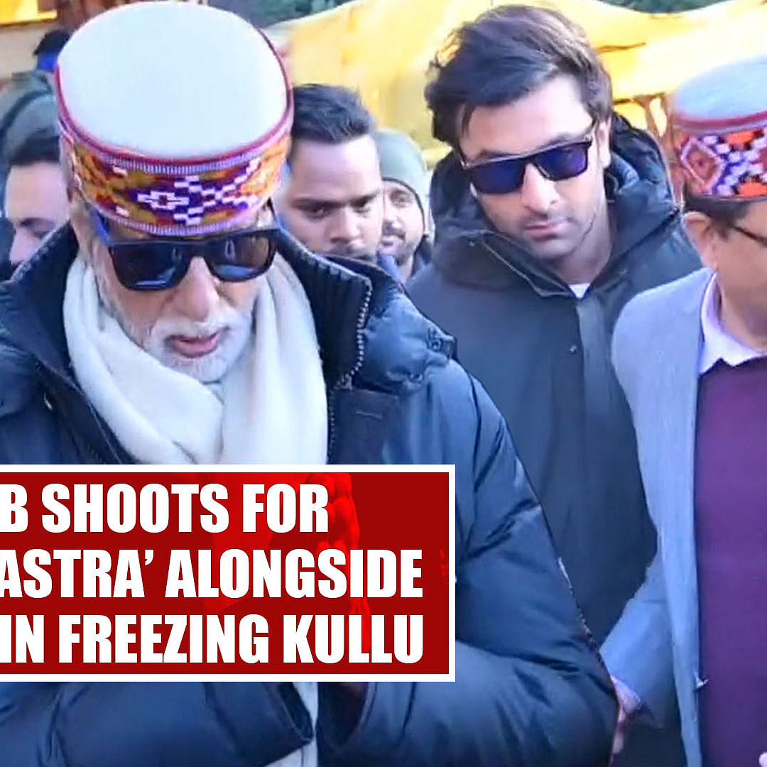 Big B shoots for 'Brahmastra' alongside Ranbir in freezing Kullu
