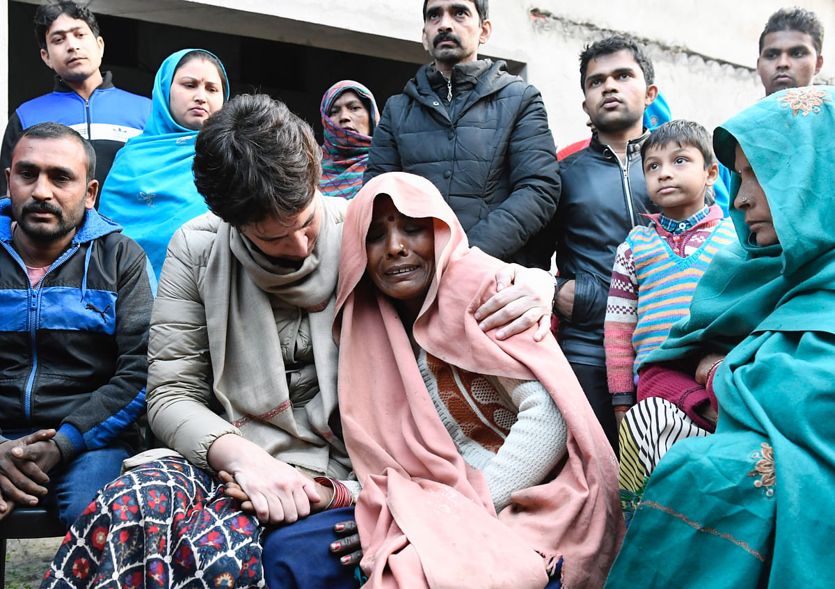 CAA protests: Priyanka Gandhi meets families of men who died during violence in Bijnor, UP