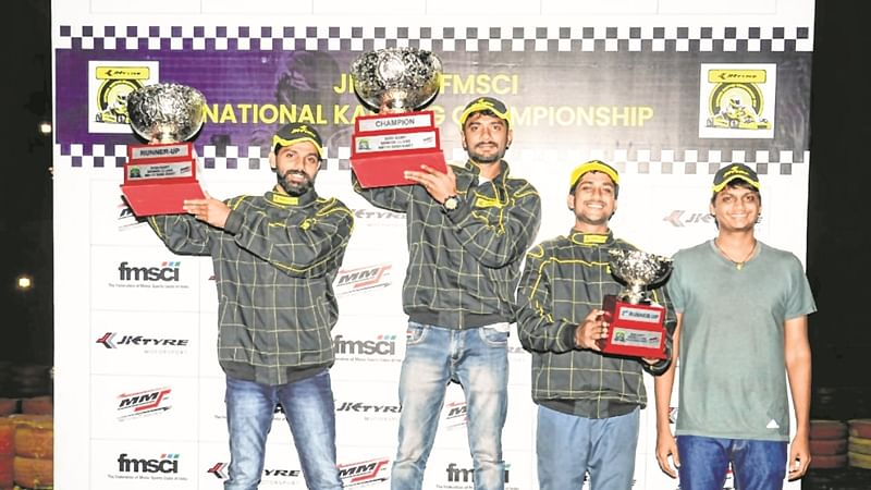 Karthik Muthusamy, Aditya Raja are National Karting Champs