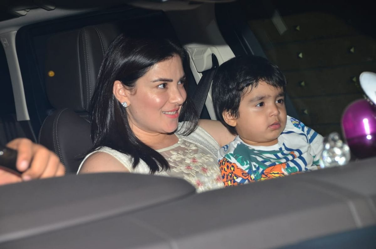 Urvashi Sharma and son