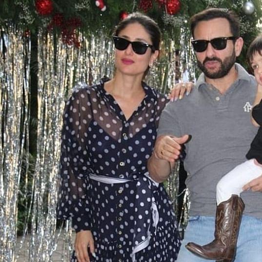 Taimur Ali Khan birthday bash: Saif, Kareena's gesture towards paps is winning hearts