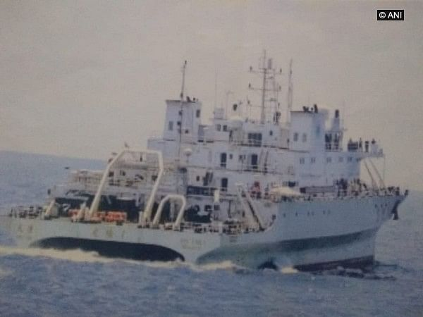 Indian Navy drives away suspicious Chinese vessel from Indian waters
