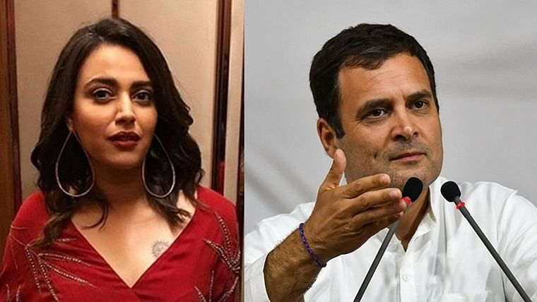 He knows the real threat: Swara Bhasker supports Rahul Gandhi over 'Assam won't be run by RSS' comment