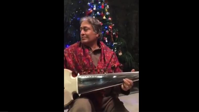 Watch: Ustad Amjad Ali Khan plays his rendition of the classic Christmas carol Jingle Bells
