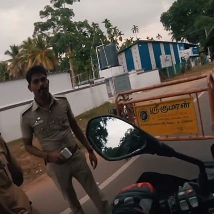Tamil Nadu cops stopped biker on BMW superbike just to click photos