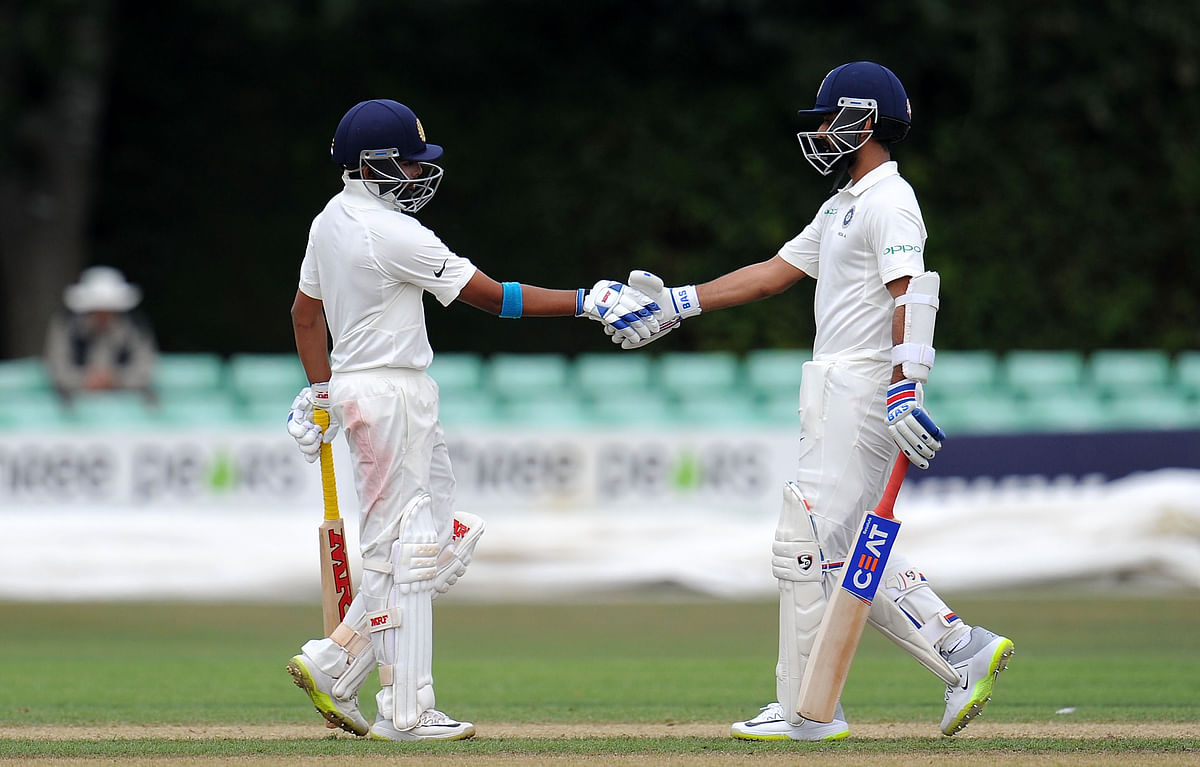 Prithvi Shaw (left) and Ajinkya Rahane.
