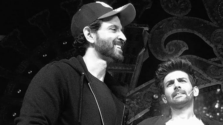 Watch video: Hrithik Roshan is the 'baap' of Kartik Aaryan's 'Dheeme Dheeme' challenge
