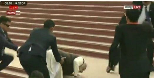 Video of Modi tripping goes viral; Twitter says 'just like the economy'