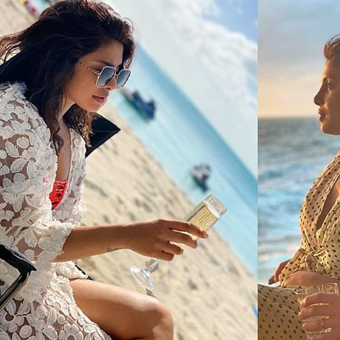 After chilling in snowy mountains, Priyanka Chopra switches to basking in sun and sand