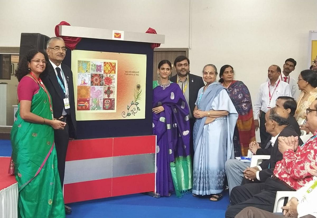 India Post releases postage stamps on Embroideries of India at INPEX – 2019