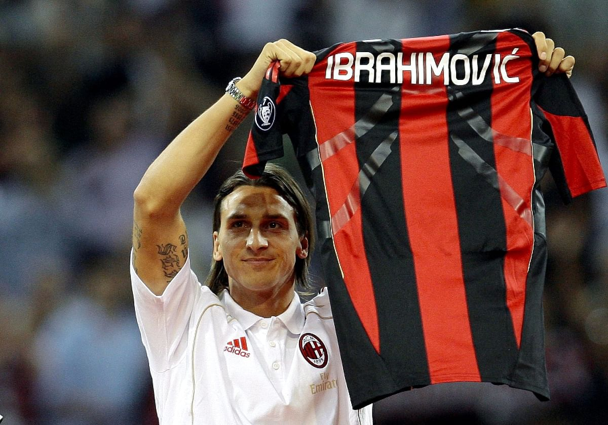 Zlatan IBrahimovic with AC Milan