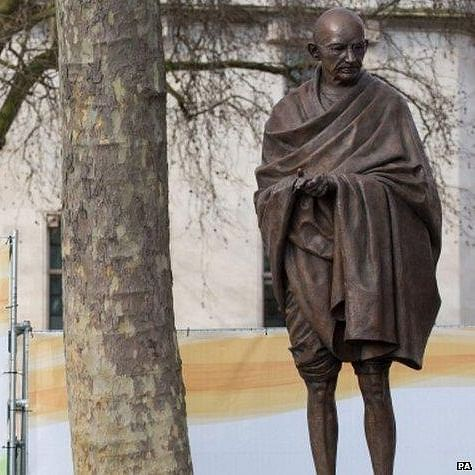CAA protesters gather at Mahatma Gandhi statue in London