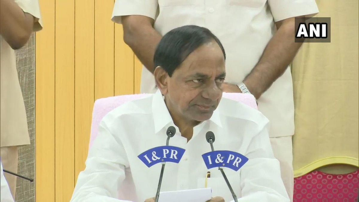 Telangana Chief Minister K Chandrashekhar Rao