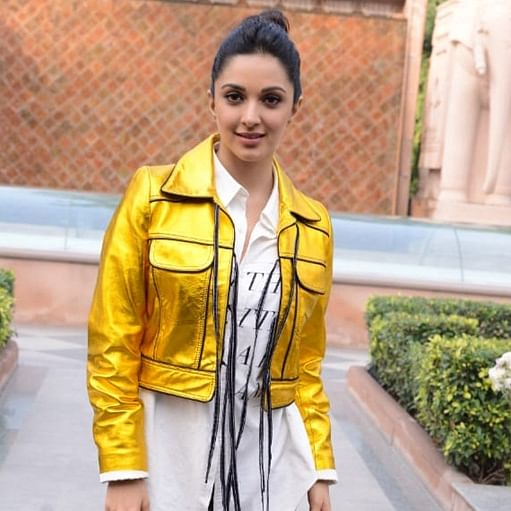 Kiara Advani's golden jacket looks like it has been touched by King Midas