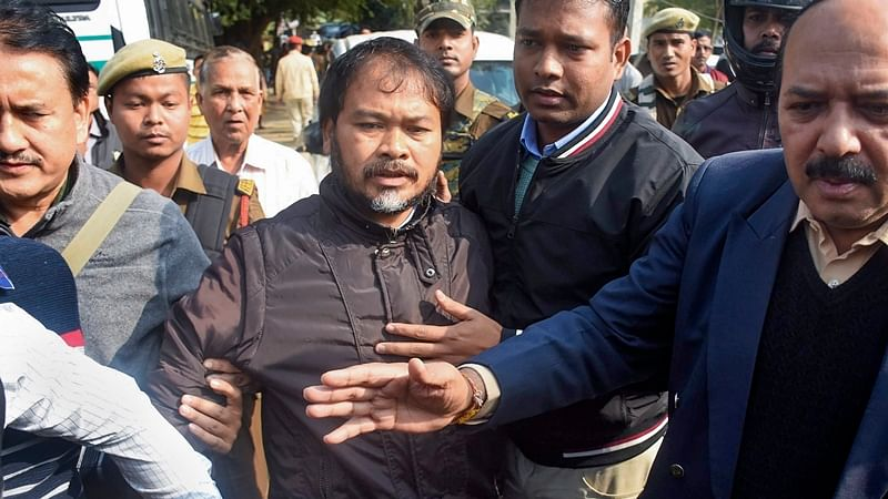 Akhil Gogoi sent to 14-day custody, his house raided