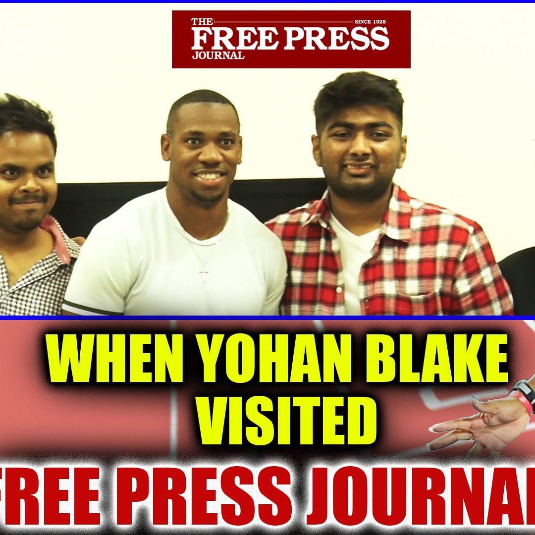 When Yohan Blake visited Free Press Journal